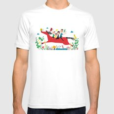 happy horse MEDIUM White Mens Fitted Tee