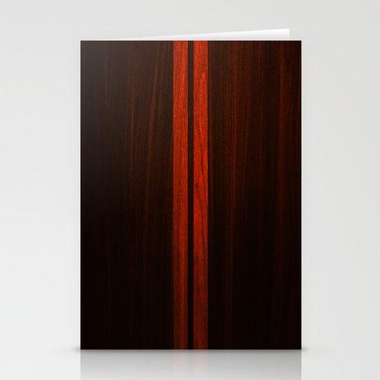 Wooden Striped Oak case Stationery Cards