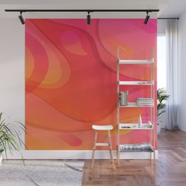 Colorful Pink Abstract Art Design Wall Mural