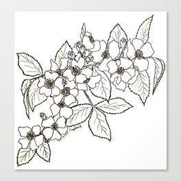 Vine Roses Canvas Print