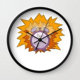 violet alarm clock Wall Clock