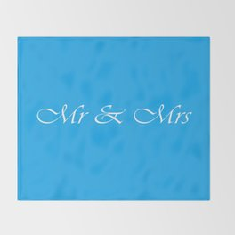 Mr & Mrs Monogram Throw Blanket