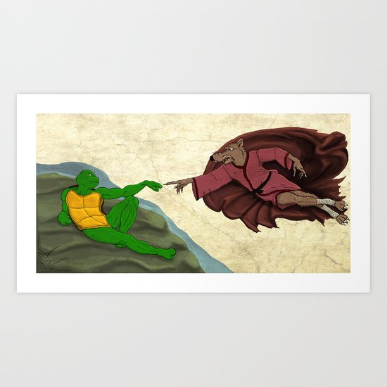 The Creation of the Turtle Art Print