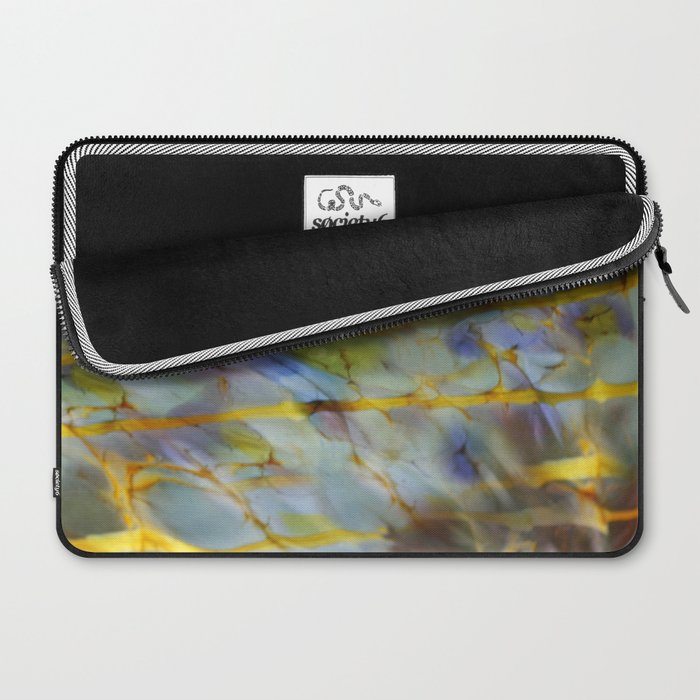 Abstract Blue Laptop Sleeve
