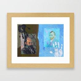 Touch Cezanne Touch Van Gogh Framed Art Print