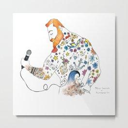 """""""Ginger Rocker"""" Metal Print"""