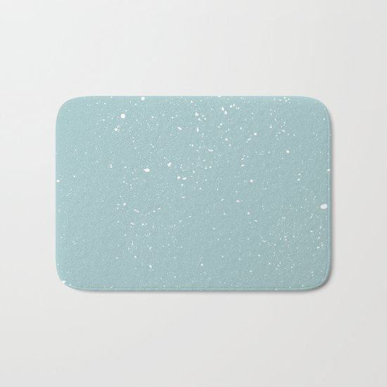 Snowfall paint splatter Bath Mat