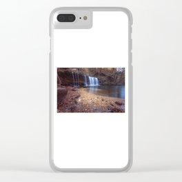Sgwd Ddwli Uchaf waterfalls South Wales Clear iPhone Case