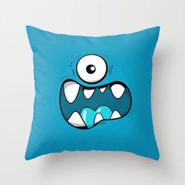 Monster face Throw Pillow
