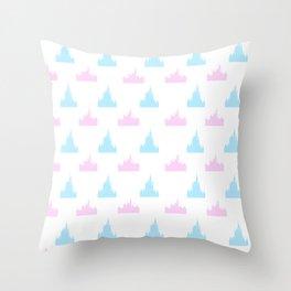 Castle Print Throw Pillow