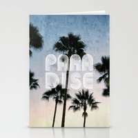 paradise Stationery Cards featuring PARADISE by RichCaspian