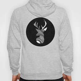 Black and White Deer Abstract Design Hoody