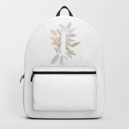 Rustic Initial I - Fall Leaves and Branches Backpack