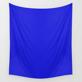 Blue Saturated Pixel Dust Wall Tapestry