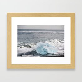 Resting Ice Framed Art Print