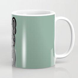 French Bulldog in Green Coffee Mug