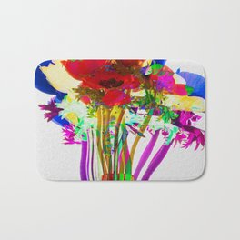 Belle Anemoni or Beautiful Anemones Bath Mat