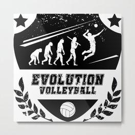Evolution Volleyball Metal Print