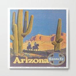 Vintage poster - Arizona Metal Print