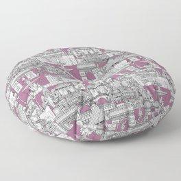 Paris toile raspberry Floor Pillow
