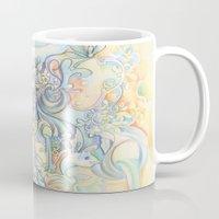 zodiac Mugs featuring Zodiac - Aquarius by Hellobaby