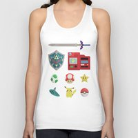 video games Tank Tops featuring video games by Black