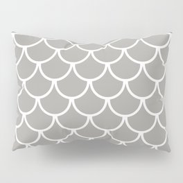 Grey Fish Scales Pattern Pillow Sham