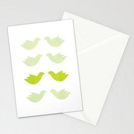 green love birds Stationery Cards