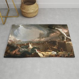 The Course of Empire: Destruction (1836) by Thomas Cole Rug