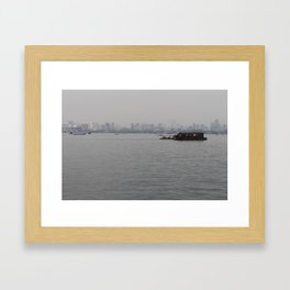 Hangzhou Lake and City Framed Art Print