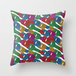 3D X Pipes Throw Pillow