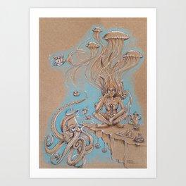 Underwater High Tea Art Print