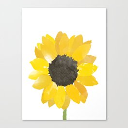 Watercolor Sunflower Canvas Print