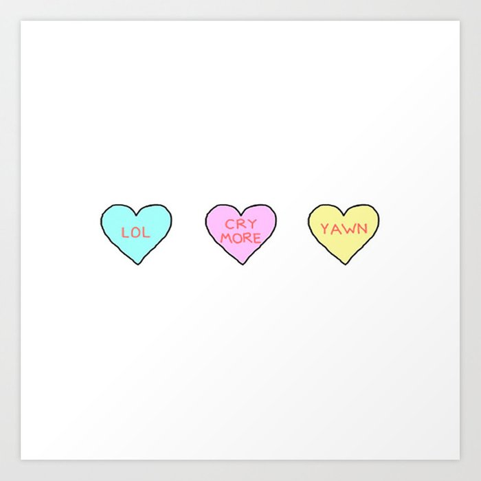 Conversation Hearts Art Print