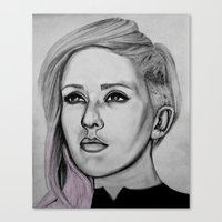 ellie goulding Canvas Prints featuring Ellie Goulding by CBDB
