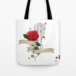 Shakespeare Quote (Flower and Serpent) Tote Bag