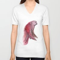 birdy V-neck T-shirts featuring birdy! by gasponce