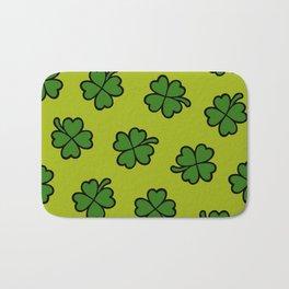 Lucky Four Leaf Clover Pattern Bath Mat
