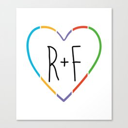 Heart Handdrawn Rodan and Fields Rf Canvas Print