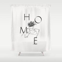 H O M E Shower Curtain