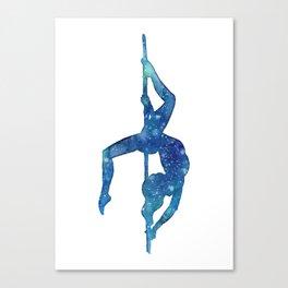 Pole dancer underwater Canvas Print