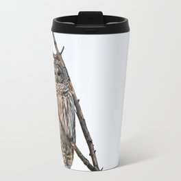 Barred Owl visitor on New Years Eve Travel Mug