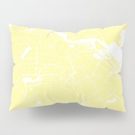 Amsterdam Yellow on White Street Map Pillow Sham