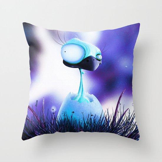 MONSTER CHICK Throw Pillow