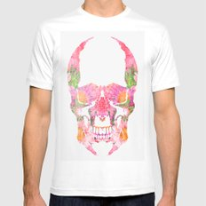Skull White Mens Fitted Tee MEDIUM