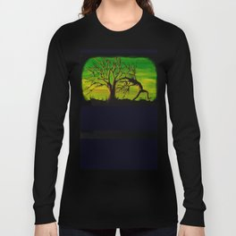 The BIG Escape - Psychedelic Tree Art Long Sleeve T-shirt