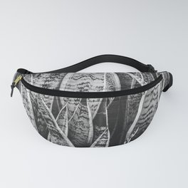 Plant Photography Tropical Exotic Plants Snake Plant Tongue Beauty Wild Nature Black and White Fanny Pack