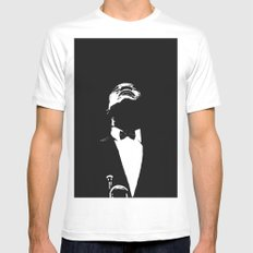 Louis Armstrong Mens Fitted Tee White SMALL