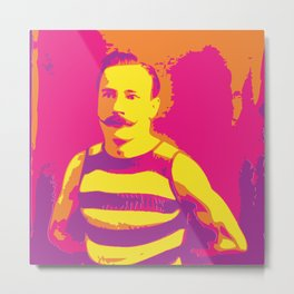 Frenchman With a Handlebar Mustache Metal Print