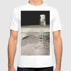 walk in silence White MEDIUM Mens Fitted Tee